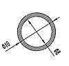 Алюмінієва Труба кругла  ПАС-1020 10х1 / AS Срібло