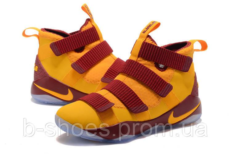 Мужские баскетбольные кроссовки Nike LeBron Zoom Soldier 11 (Yellow/Vinous)