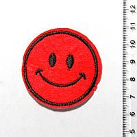 Термо-нашивка - Смайлик (диаметр 4,5 см) 1106-01