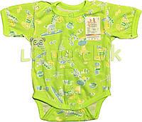 Бодик для новорожденных 100% хлопок (кулир) 56, 62 р-р, зеленый