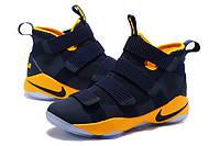 Мужские баскетбольные кроссовки Nike LeBron Zoom Soldier 11 (Dark Blue/Yellow), фото 1