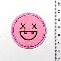 Термо-нашивка - Смайлик (диаметр 4,5 см) 1106-03