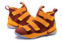 Мужские баскетбольные кроссовки Nike LeBron Zoom Soldier 11 (Vinous/Yellow), фото 1