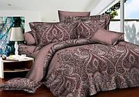 Двуспальный комплект постельного белья 180*220 сатин (7304) TM KRISPOL Украина
