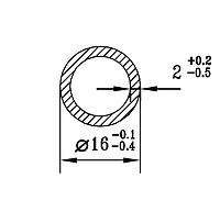 Алюмінієва Труба кругла ПАС-1708 16х2  / AS Срібло