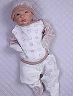 Комплект на выписку новорожденных с распашонкой, штаниками и шапочкой
