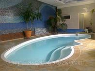 Стекловолоконный бассейн Венеция 7,50х3,50м глубиной 1,00-1,70м