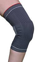 Бандаж для коленного сустава 3D вязка(с силиконовым кольцом и спиральными металлическими ребрами жесткости)