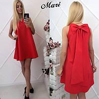 Нарядное летнее коктейльное платье, красное