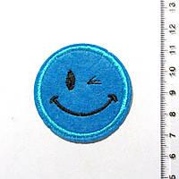 Термо-нашивка - Смайлик (диаметр 4,5 см) 1106-08
