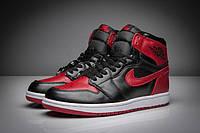 Мужские Баскетбольные кроссовки Air Jordan Retro 1 (Black/Red) , фото 1