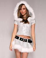 Серебристый костюм снегурочки взрослый