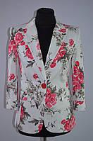 Пиджак белый с цветами