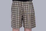Чоловічі шорти в клітинку (плащівка), оливкового кольору, фото 3