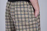 Чоловічі шорти в клітинку (плащівка), оливкового кольору, фото 4