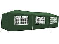 Павильон, Палатка, Навес для свадеб, мероприятий 3х9м 8 стенок Зеленый