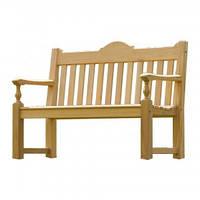 Классическая садовая скамейка из дерева коллекция Roble
