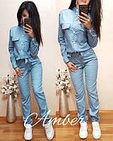 Модный женский джинсовый комбинезон у-t810621