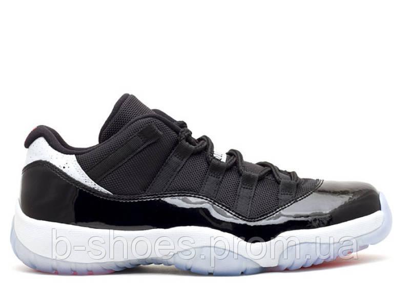 Мужские баскетбольные кроссовки Air Jordan Retro 11 Low (Black/White)