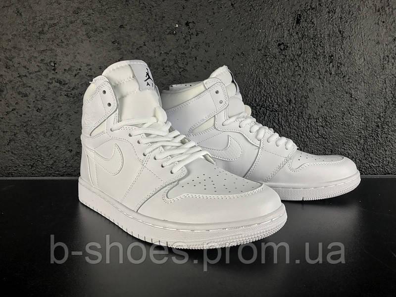 Мужские Баскетбольные кроссовки Air Jordan Retro 1 (White)