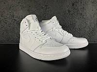 Мужские Баскетбольные кроссовки Air Jordan Retro 1 (White) , фото 1