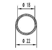 Алюмінієва Труба кругла ПАС-1994 22х2 / Без покриття