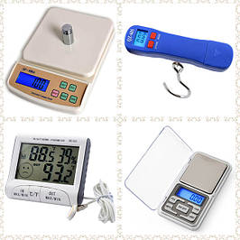 Весы кухонные и ювелирные, термометры,кантеры