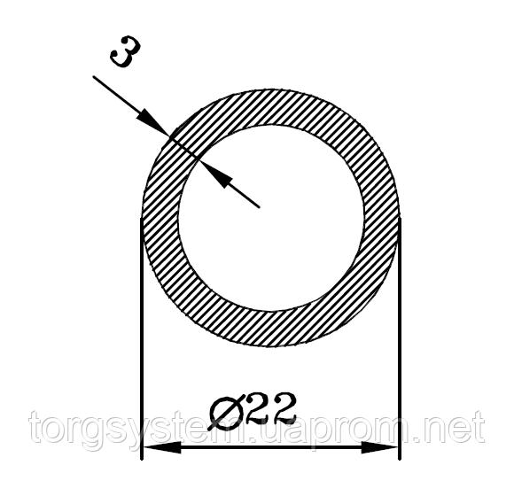 Алюмінієва Труба кругла  ПАС-2013 22х3 / AS Срібло