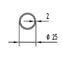 Алюмінієва Труба кругла   ПАС-0422 25х2 / AS Срібло