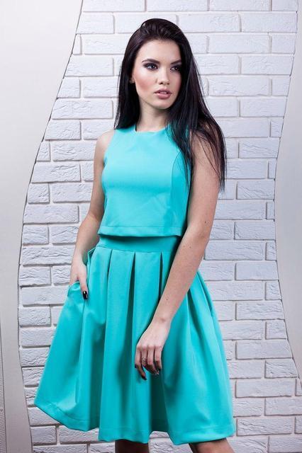 Молодежное летнее платье 8839 - СТИЛЬНАЯ ДЕВУШКА интернет магазин модной  женской одежды в Киеве 1ddde9f207a