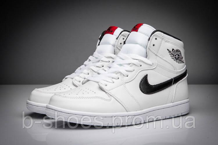 Мужские Баскетбольные кроссовки Air Jordan Retro 1 (White/Black)