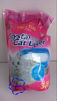 Селікагелевий наповнювач для туалету LONG FENG Crystal Cat Litters 3,8 l (із запахом квітів)