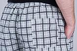 Чоловічі шорти в клітинку (плащівка), сірого кольору, фото 4