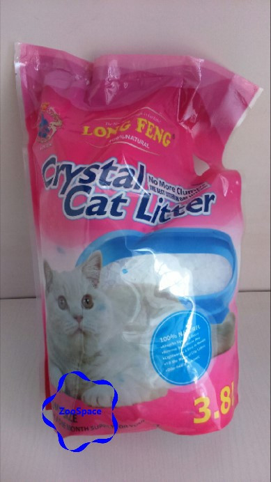 Селікагелевий наповнювач для туалету LONG FENG Crystal Cat Litters 3,8l (із запахом лаванди)