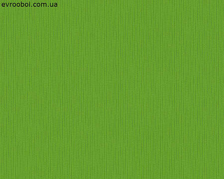 Обои ярко-зеленые однотонные флизелин 958547.