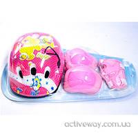 Детский комплект защиты+шлем.Цвета+