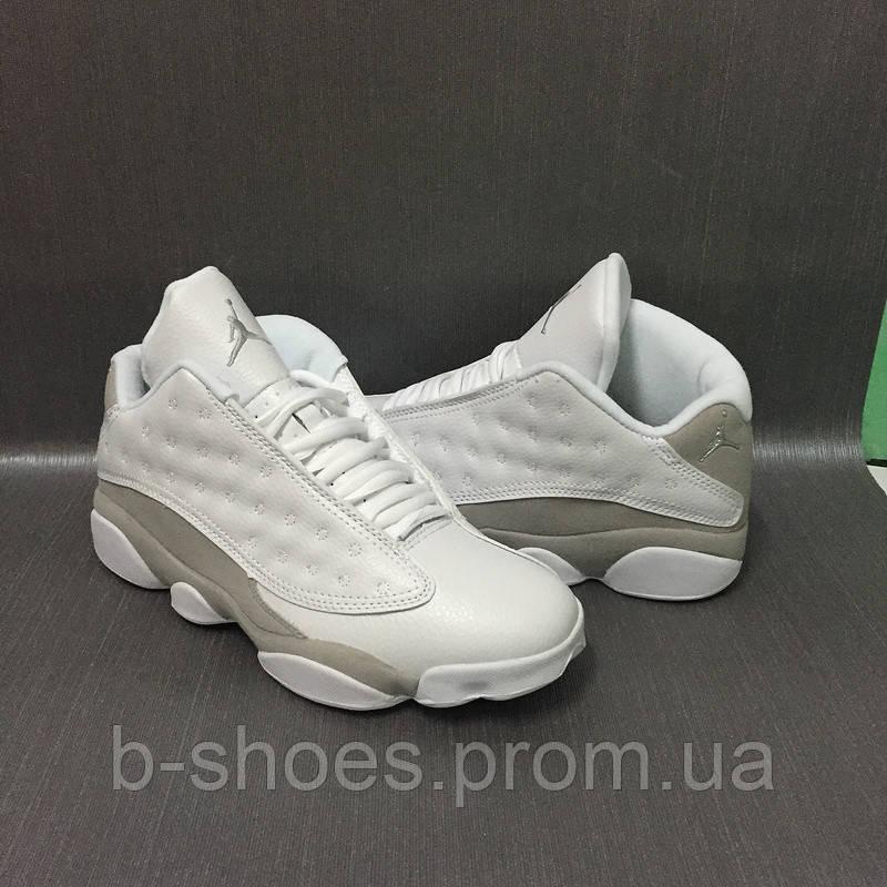 Мужские кроссовки Air Jordan Retro 13 (White/Metallic Silver)