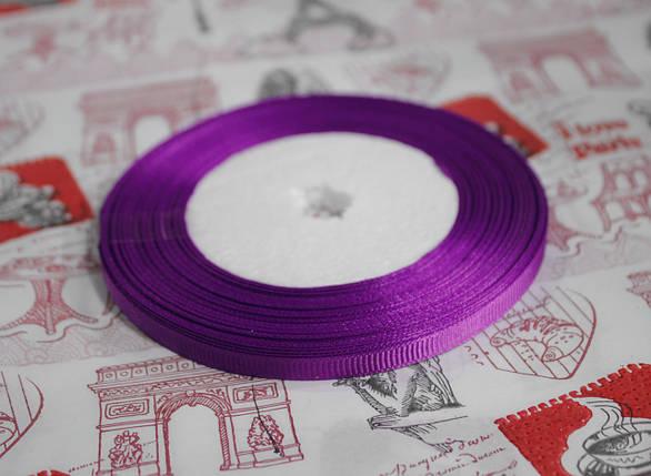 Лента репсовая фиолетовая 9 мм, 23 м, фото 2