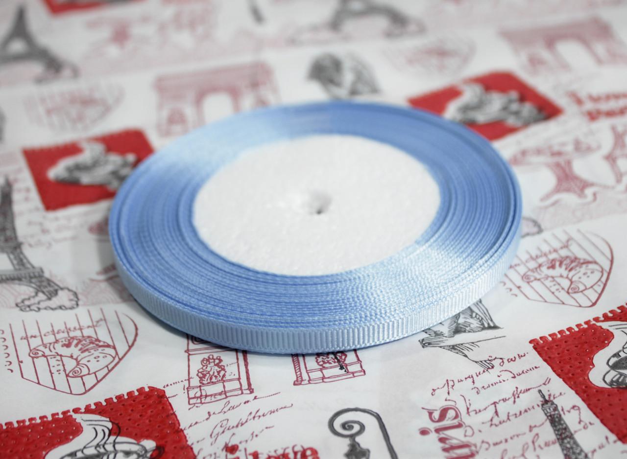 Лента репсовая голубая 9 мм, 23 м