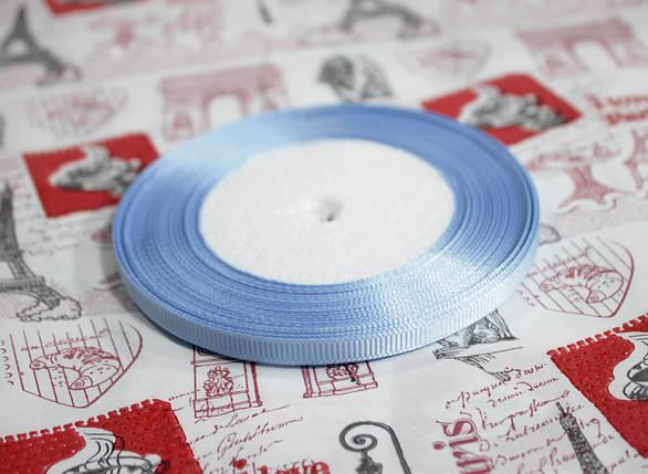 Лента репсовая голубая 9 мм, 23 м, фото 2