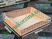 Лоток наклонный плетеный из лозы в10*в15-56*50