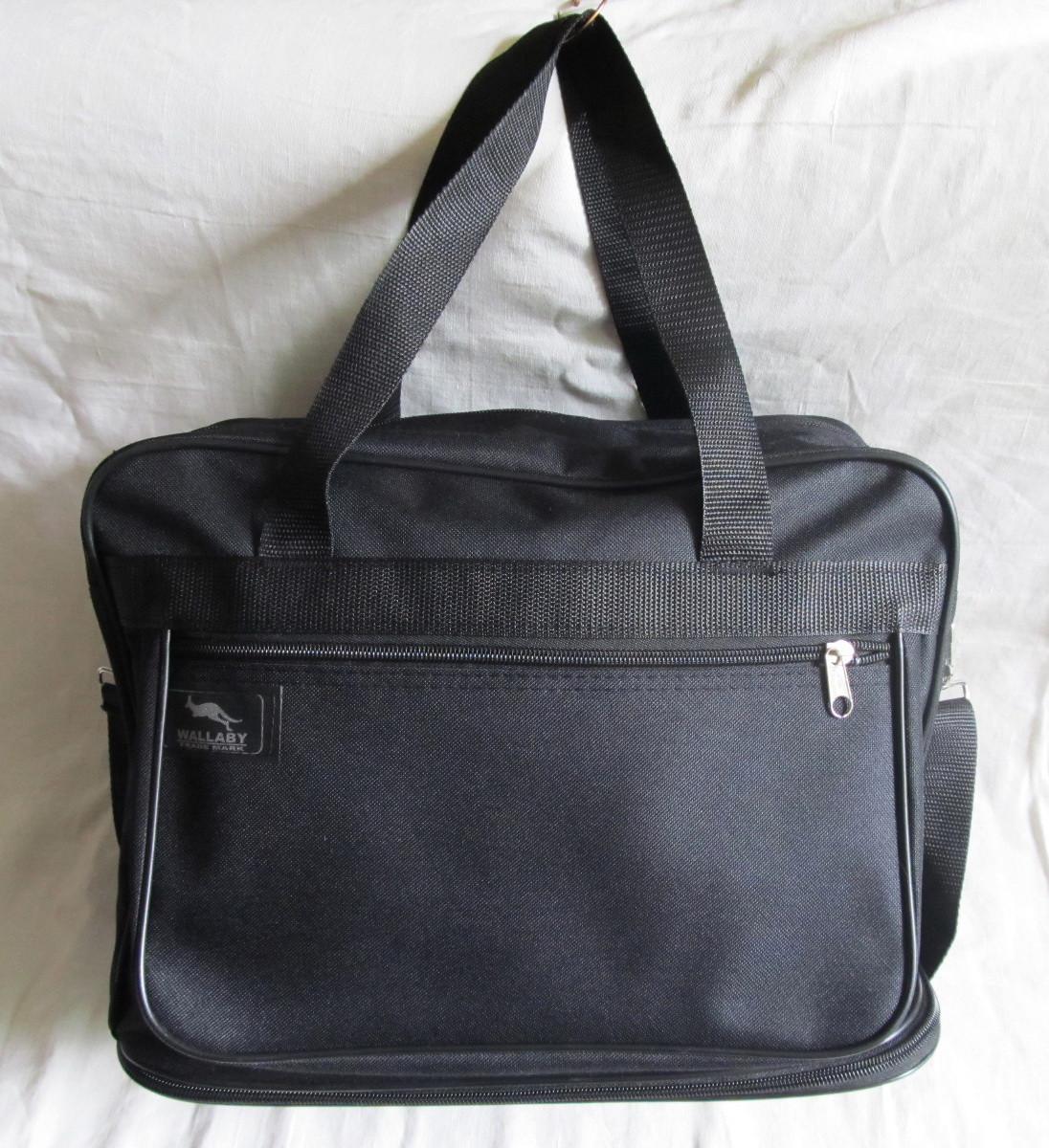 fa6ceff819b2 Мужская сумка Wallaby 2071 черная барсетка через плечо А4 с расширением  32х26+12х19см - Интернет