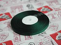 Лента репсовая темно- зеленая 9 мм, 23 м