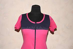 Двоколірний халат жіночий трикотажний, фото 2
