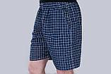 Чоловічі шорти в клітинку (плащівка), темно-синього кольору, фото 2