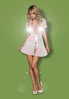 Белоснежный халатик Obsessive Swanita robe white , фото 1