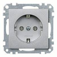 Механизм розетки schuko с з/к, алюминий MTN2300-0460