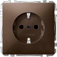 Механизм розетки schuko з/к., коричневый MTN2300-4015