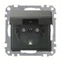 Розетка schuko с крыш. ip44, антрацит MTN2311-0414