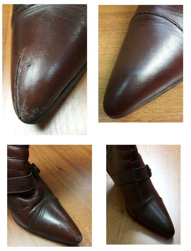 царапина на обуви
